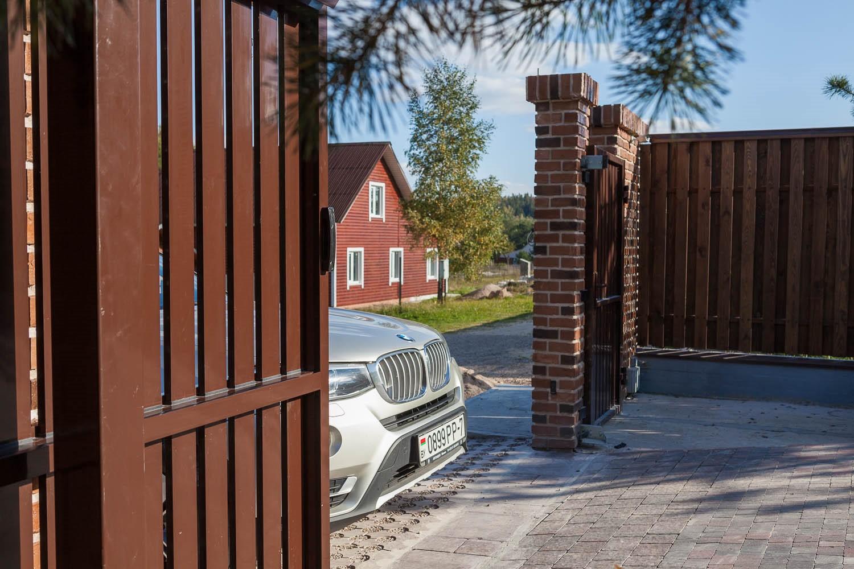 Заводские откатные ворота